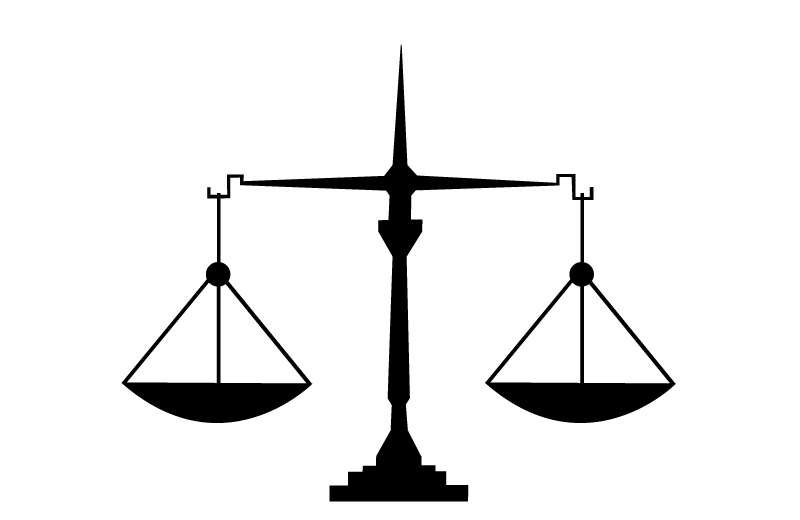 Icon of legal scales describing the CS4B service of legal proceedings